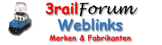 3railforum logo website - Weblinks merken en fabrikanten